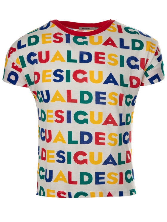 Desigual Desigual T-Shirt Ramkey 19SWTKCG Bunt Regular Fit