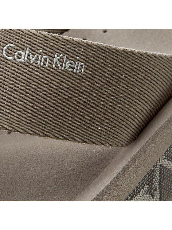 Calvin Klein Calvin Klein Šlepetės per pirštą Mulan N12028 Pilka