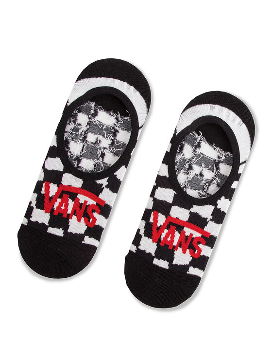 Vans Vans Súprava 3 párov krátkych ponožiek unisex Checkerboard Canoodle VN0A3NGR448 Čierna