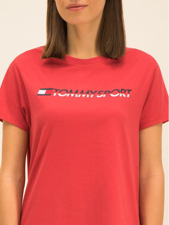 Tommy Sport Tommy Sport Тишърт Tee Logo S10S100061 Червен Regular Fit