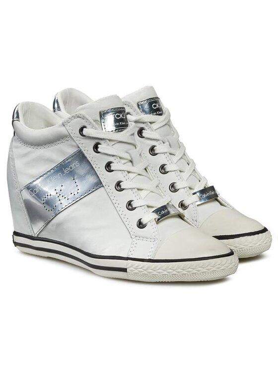 Calvin Klein Jeans Calvin Klein Jeans Sneakers Violet Brush Off Kid RE9088 Weiß