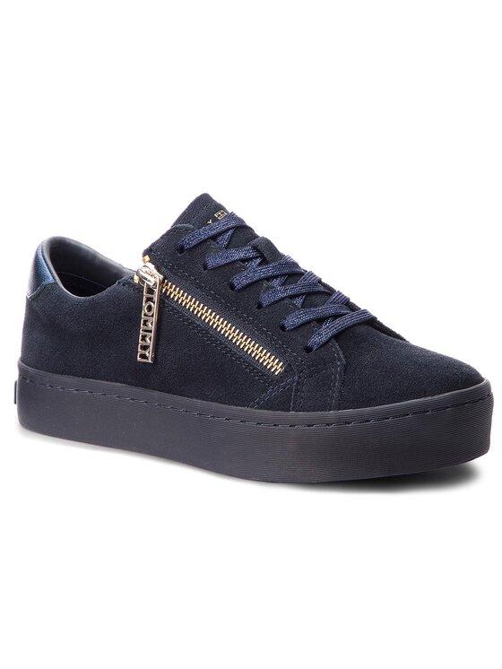 Tommy Hilfiger Tommy Hilfiger Sneakersy Zipper Dress Sneaker FW0FW03261 Granatowy
