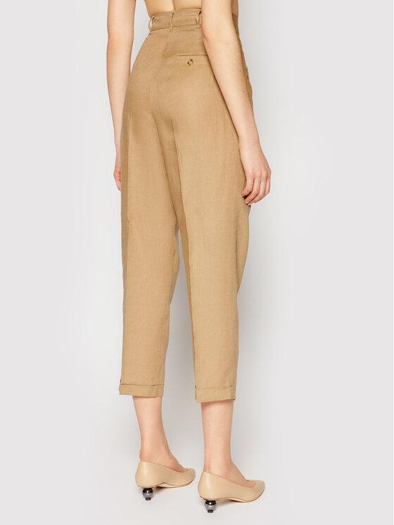 Marella Marella Spodnie materiałowe Domino 31311512 Brązowy Regular Fit