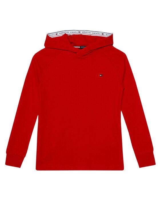 Tommy Hilfiger Tommy Hilfiger Bluza Tape Hoodie KB0KB06136 D Czerwony Regular Fit