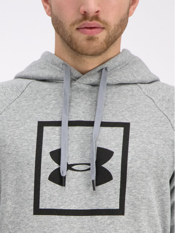 Under Armour Under Armour Μπλούζα UA Rival Fleece Logo 1329745 Γκρι Regular Fit