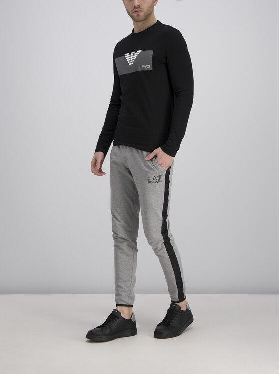EA7 Emporio Armani EA7 Emporio Armani Marškinėliai ilgomis rankovėmis 3GPT11 PJT7Z 1554 Juoda Regular Fit