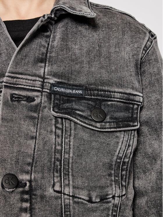 Calvin Klein Jeans Calvin Klein Jeans Kurtka jeansowa Trucker IB0IB00723 Szary Regular Fit