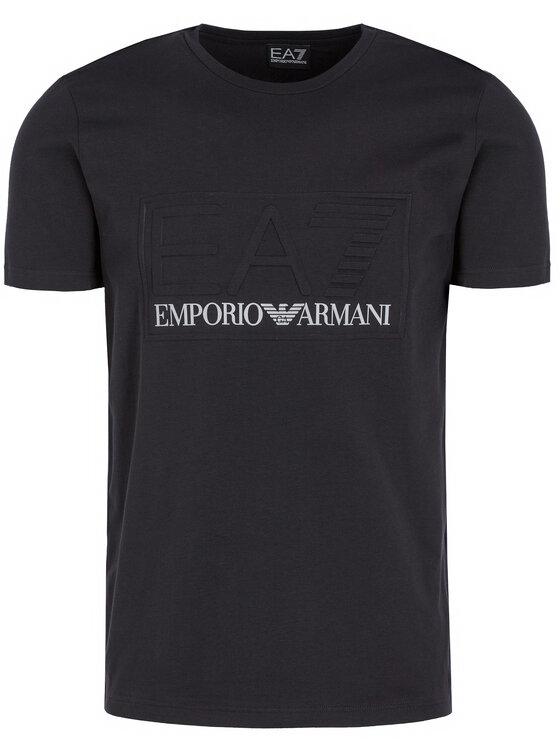 EA7 Emporio Armani EA7 Emporio Armani Marškinėliai 3HPT13 PJ03Z 1200 Juoda Regular Fit