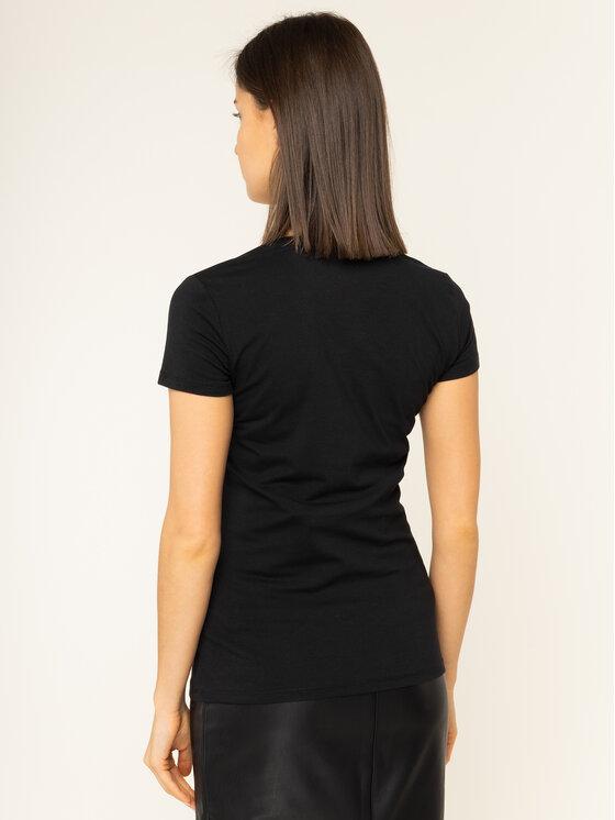 Guess Guess Marškinėliai Crystal W01I74 J1300 Juoda Regular Fit