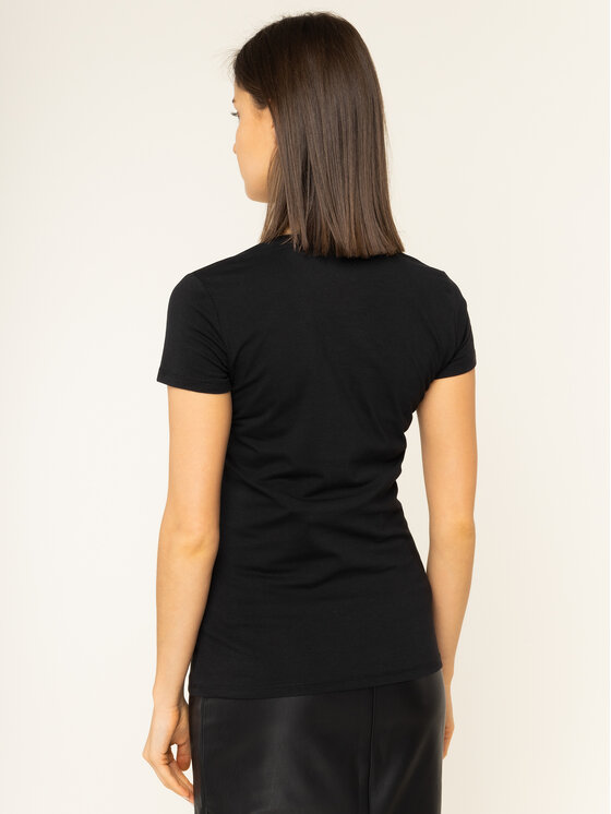 Guess Guess T-Shirt Crystal W01I74 J1300 Schwarz Regular Fit
