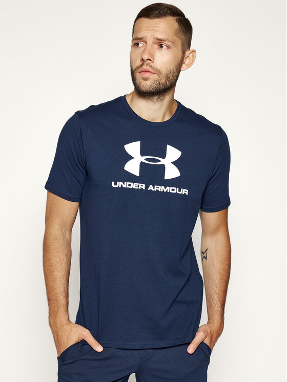 Under Armour Under Armour T-Shirt Ua Sportstyle Logo 1329590 Dunkelblau Loose Fit