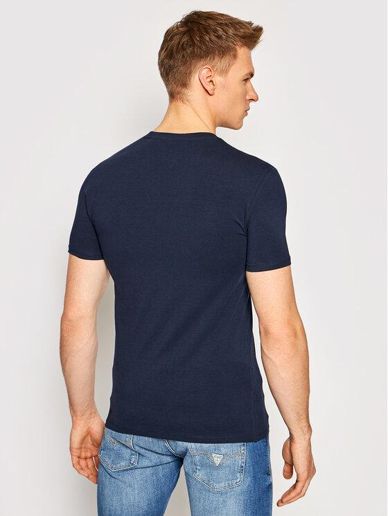 Guess Guess T-Shirt M1RI24 J1311 Granatowy Super Slim Fit