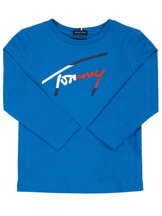Tommy Hilfiger Tommy Hilfiger Blusa Script KB0KB05421 M Blu Regular Fit