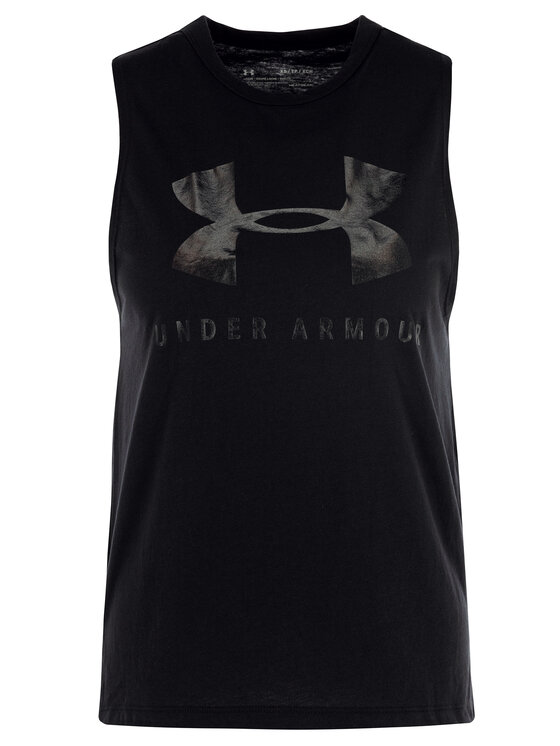 Under Armour Under Armour Топ UA Sportstyle Graphic Muscle 1344150 Черен Regular Fit