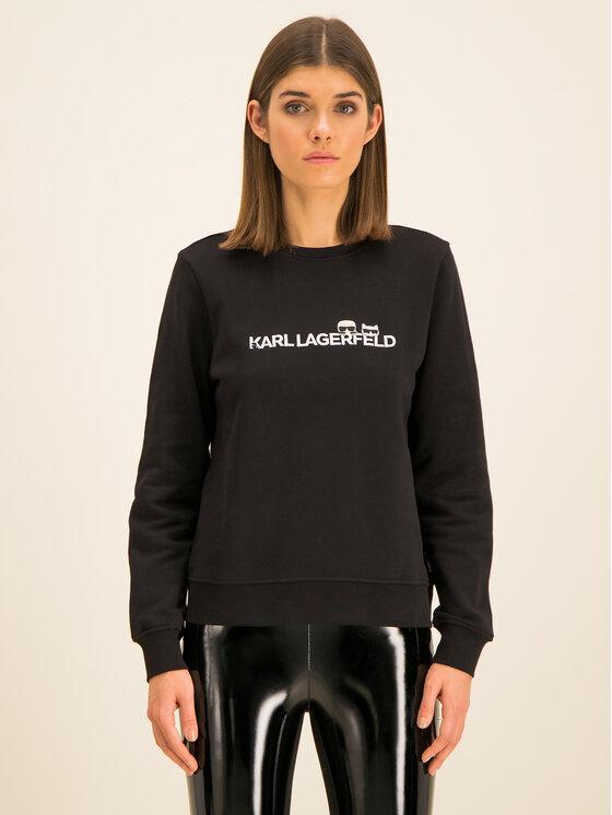 KARL LAGERFELD KARL LAGERFELD Sweatshirt Ikonik & Logo 96KW1824 Noir Regular Fit