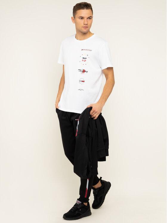 Tommy Sport Marškinėliai Graphics S20S200316 Balta Regular Fit