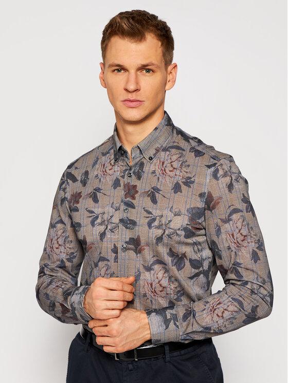 Baldessarini Marškiniai Brad 51000/0014/9506 Ruda Tailored Fit
