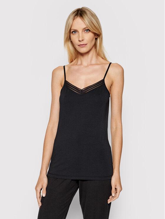 Femilet by Chantelle Apatiniai marškinėliai Nova FN4680 Juoda Slim Fit