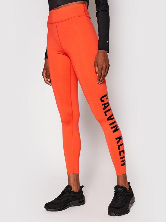Calvin Klein Performance Leginsai Full Lenght 00GWF0L637 Oranžinė Slim Fit