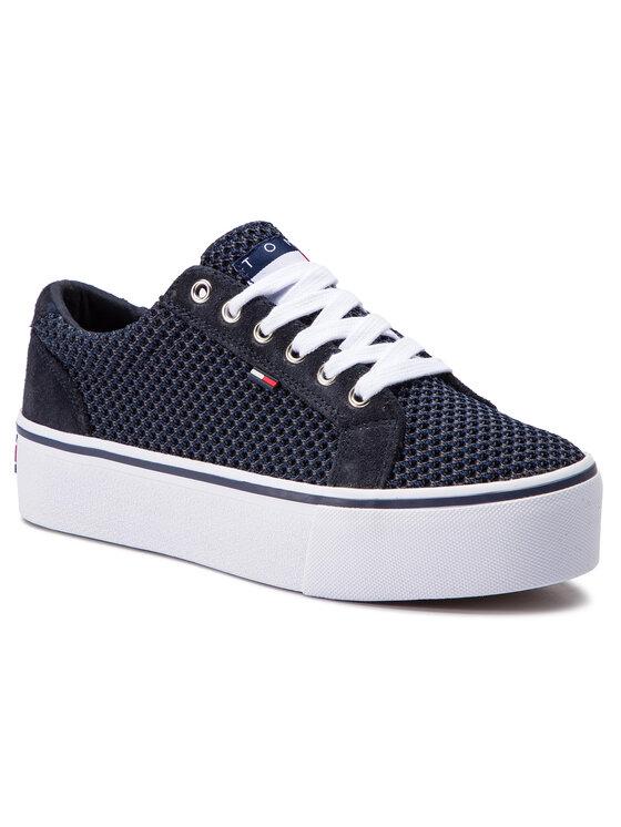 Tommy Jeans Tommy Jeans Sneakers Wmn Textile City Sneaker EN0EN00409 Blu scuro