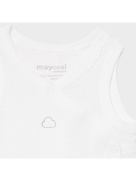 Mayoral Mayoral Body dziecięce 1790 Biały Regular Fit