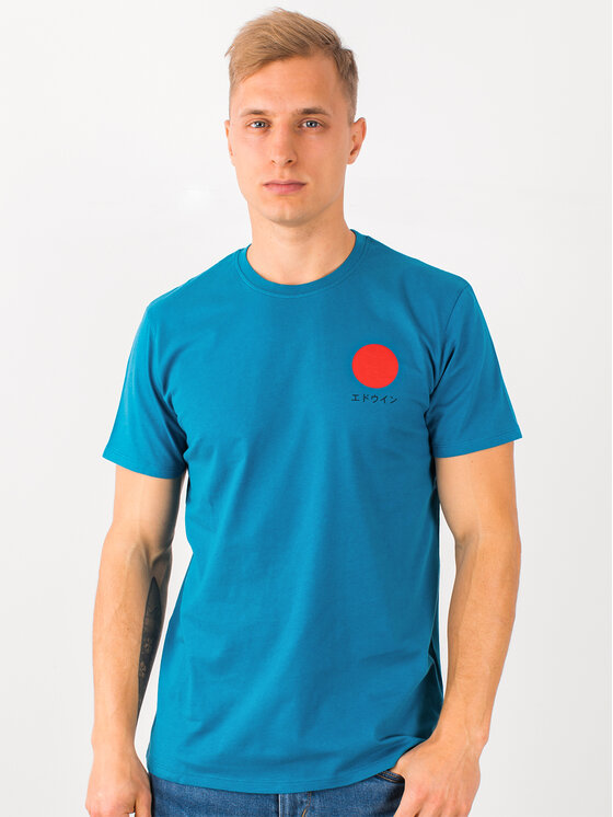 Edwin Edwin T-Shirt Japanese Sun Ts I025020 TF10J94 SXN67 Πράσινο Regular Fit
