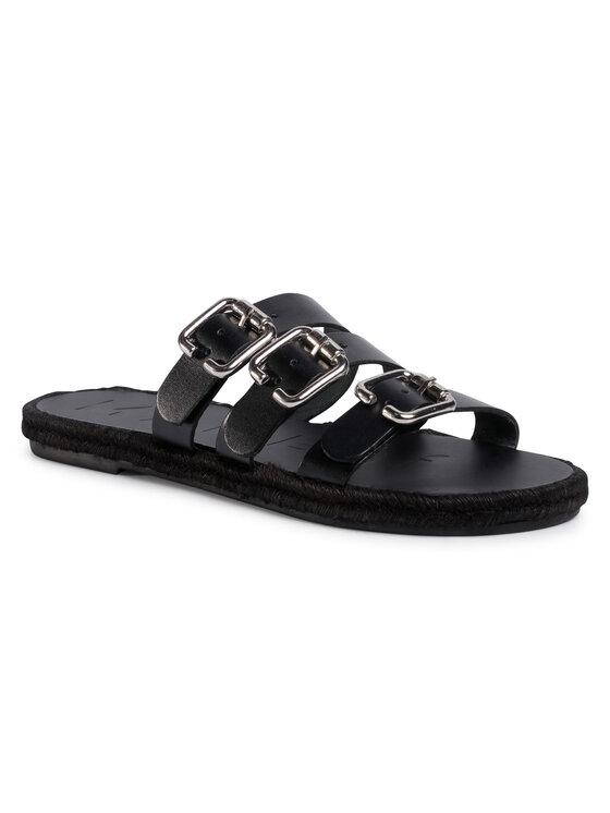 Manebi Espadrilės Leather Sandals S 2.1 Y0 Juoda