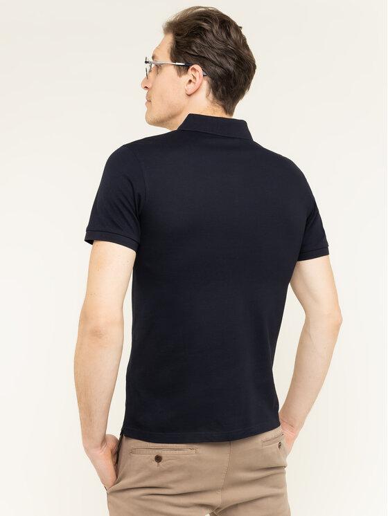 Baldessarini Baldessarini Тениска с яка и копчета Pablo Nos 47405/000/5361 Тъмносин Slim Fit