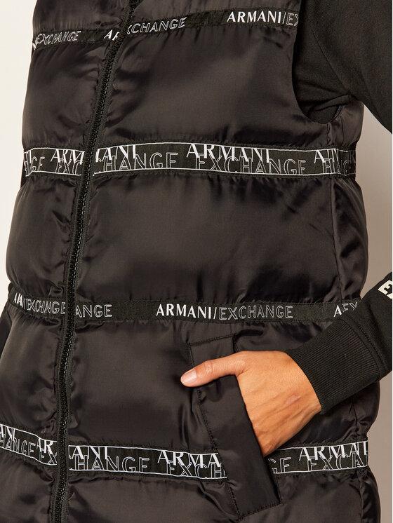Armani Exchange Armani Exchange Liemenė 6HYQ08 YNKLZ 1200 Juoda Regular Fit