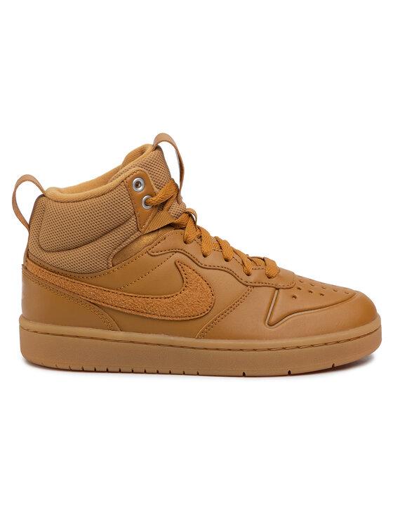 Nike Nike Buty Court Borough Mid 2 Boot (GS) BQ5440 700 Brązowy