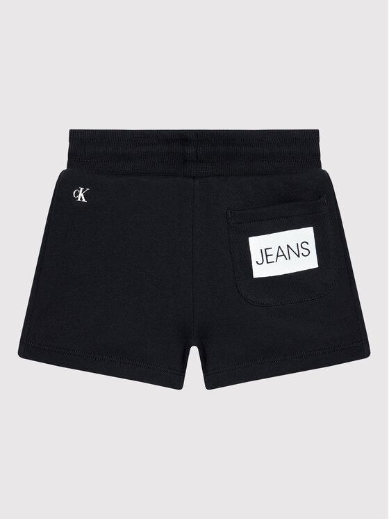Calvin Klein Jeans Calvin Klein Jeans Dres Logo Boxy IG0IG01061 Czarny Regular Fit