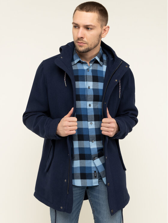 Tommy Jeans Tommy Jeans Parka Tjm Wool DM0DM06913 Blu scuro Regular Fit