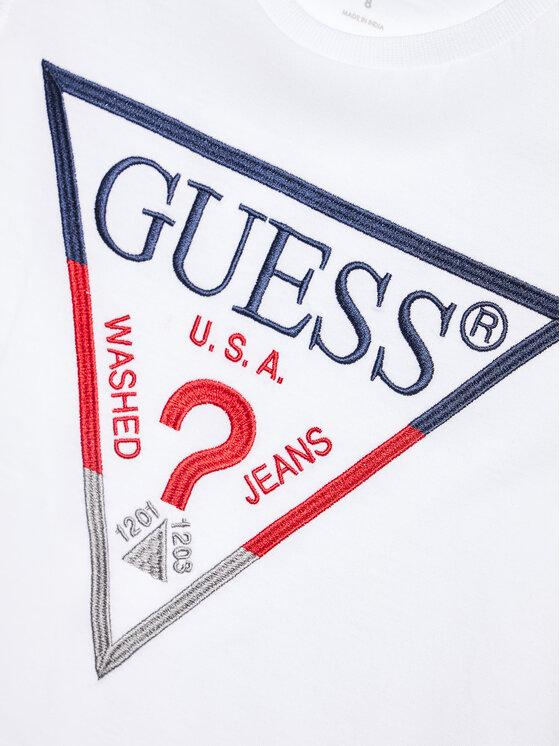 Guess Guess T-Shirt H1RJ05 K8HM0 Biały Regular Fit