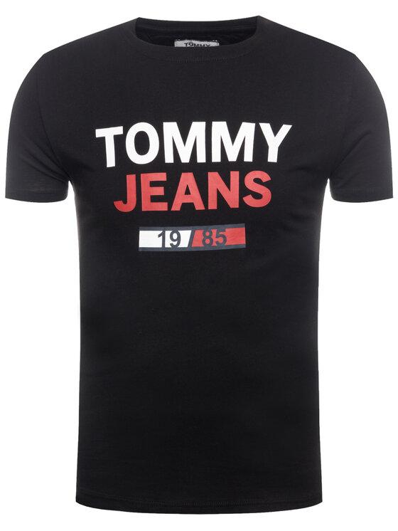 Tommy Jeans Tommy Jeans T-Shirt TJM 1985 Logo Tee DM0DM07537 Czarny Regular Fit