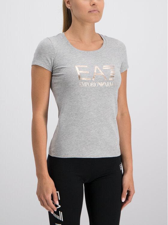 EA7 Emporio Armani EA7 Emporio Armani T-Shirt 3GTT21 TJ12Z 3905 Szary Slim Fit