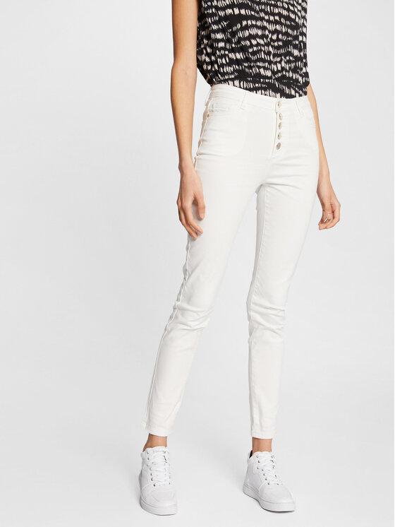 Morgan Džinsai 211-PWHITE Balta Slim Fit