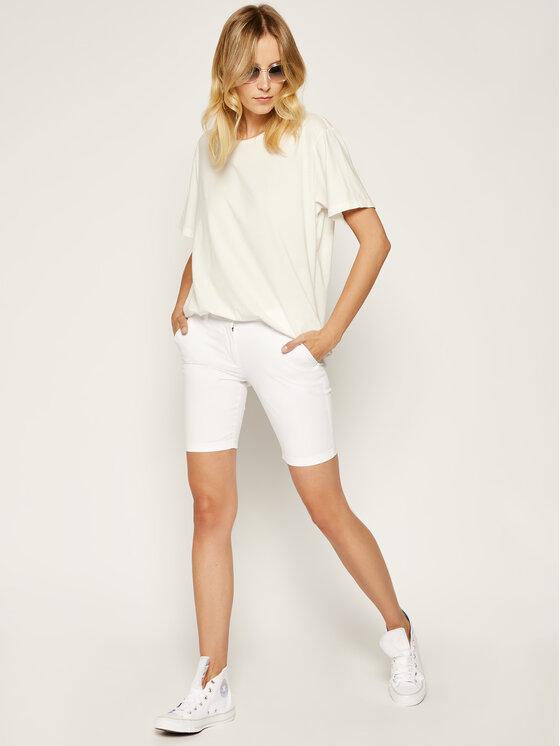 Napapijri Napapijri Pantaloncini di tessuto Noridian 1 N0YHH9 Bianco Slim Fit