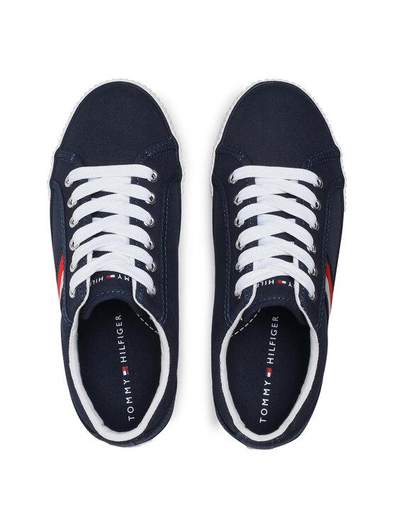 Tommy Hilfiger Tommy Hilfiger Tenisówki Low Cut Lace-Up Sneaker T3B4-31070-1185 S Granatowy
