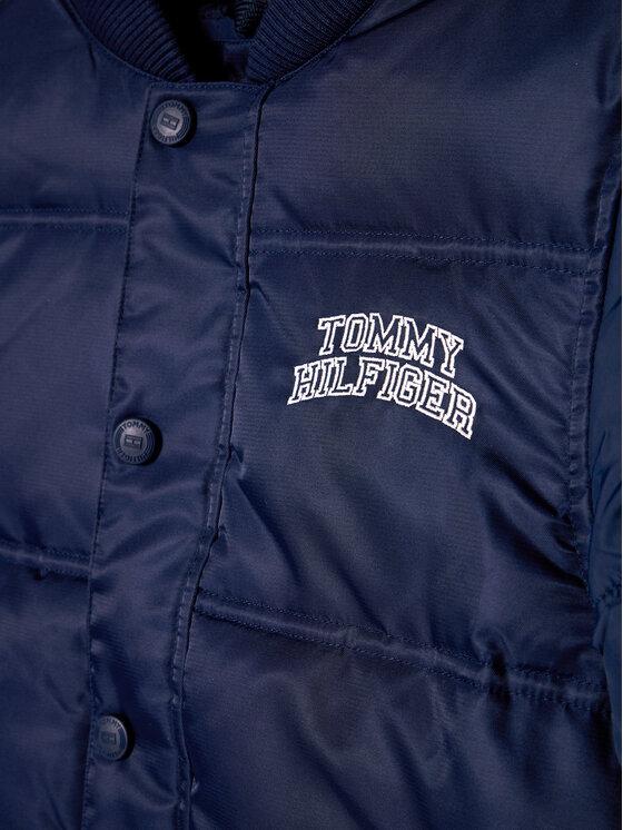 Tommy Hilfiger Tommy Hilfiger Kurtka puchowa Quilted Bomber KB0KB05991 Granatowy Regular Fit