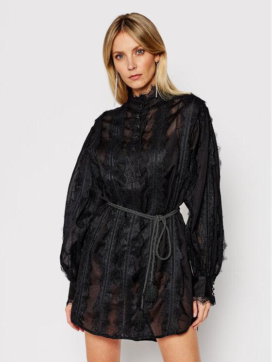 One Teaspoon Kasdieninė suknelė Eternal Lace Spirit 23638 Juoda Regular Fit