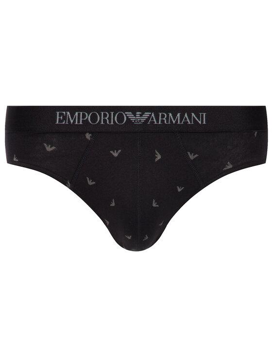 Emporio Armani Underwear Emporio Armani Underwear Súprava 3 kusov slipov 111624 9A722 70020 Čierna