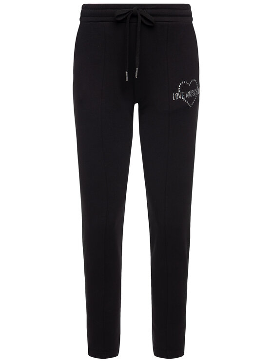 LOVE MOSCHINO LOVE MOSCHINO Παντελόνι φόρμας W151301E 1958 Μαύρο Regular Fit