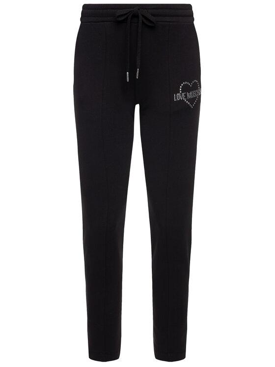 LOVE MOSCHINO LOVE MOSCHINO Teplákové nohavice W151301E 1958 Čierna Regular Fit
