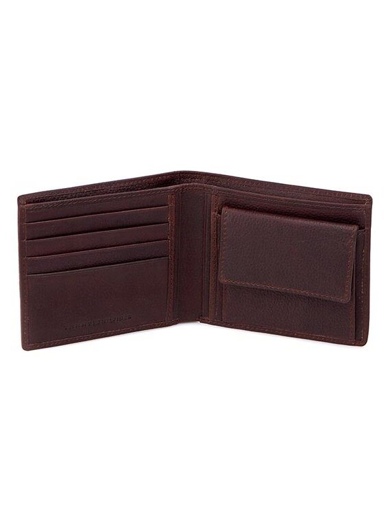 Tommy Hilfiger Tommy Hilfiger Голям мъжки портфейл Paolo Cc And Coin Pocket BM56927372 Кафяв