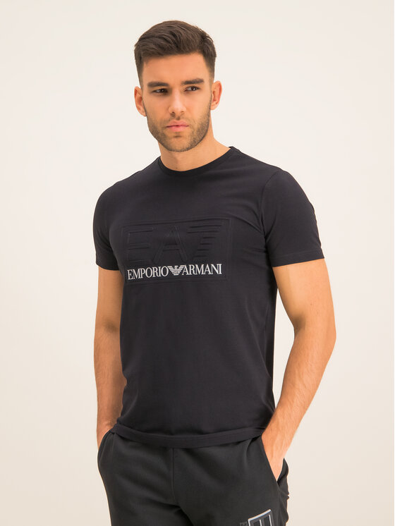 EA7 Emporio Armani EA7 Emporio Armani Тишърт 3HPT13 PJ03Z 1200 Черен Regular Fit