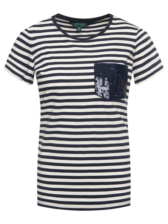 Lauren Ralph Lauren Lauren Ralph Lauren T-Shirt 200773859 Beżowy Regular Fit