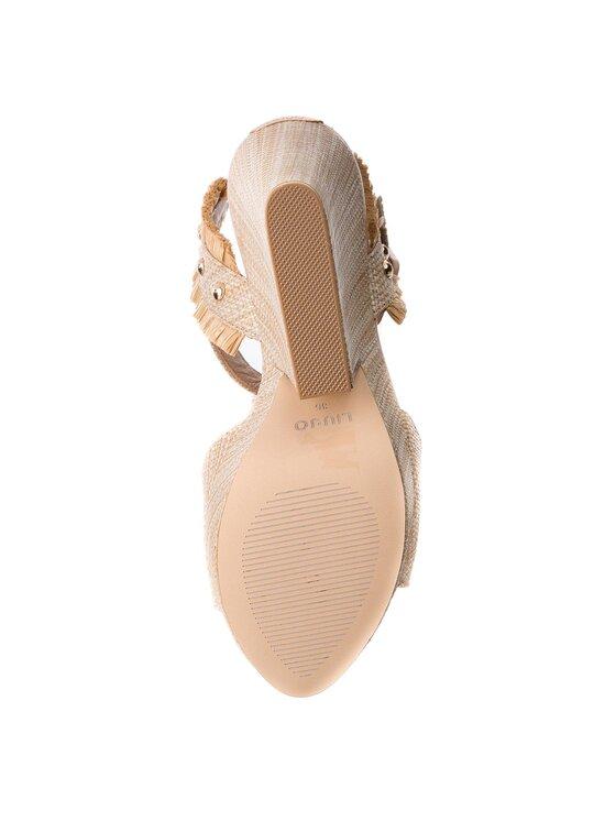 Liu Jo Liu Jo Sandały Wedge Sandal Marabu Naturale S18079 T7034 Beżowy