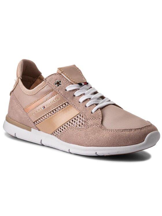 Tommy Hilfiger Tommy Hilfiger Sneakersy Metallic Light Weight Sneaker FW0FW02996 Růžová