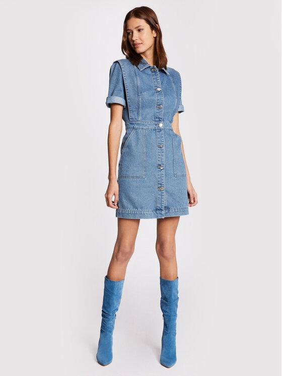 Morgan Džinsinė suknelė 211-RENIM Mėlyna Slim Fit