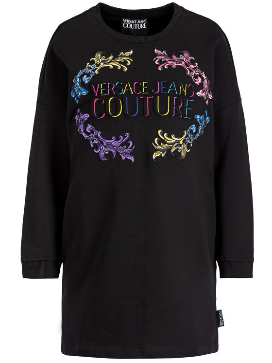 Versace Jeans Couture Versace Jeans Couture Vestito di maglia D2HUB465 Nero Regular Fit